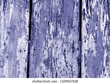 Grunge wooden fence pattern in blue color. Abstract background and texture for design.