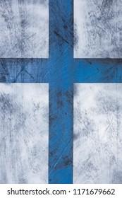 Grunge wooden shield background