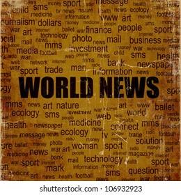 Grunge world news background