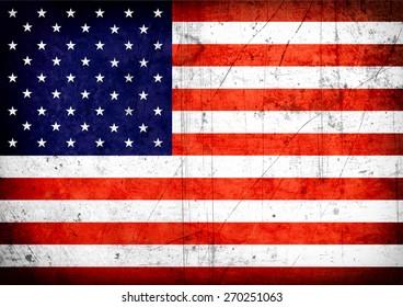 grunge-flag of United States of America