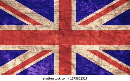 Grungy aged and distressed United Kingdom flag