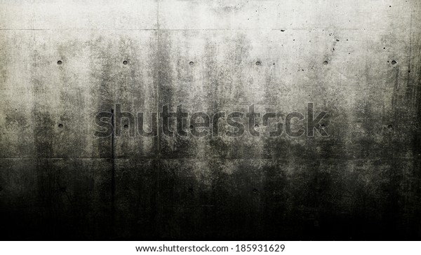Grungy and bare concrete wall.