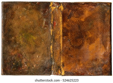 Grungy book cover - painted leatherette - isolated on white - perfect in detail! - XL size