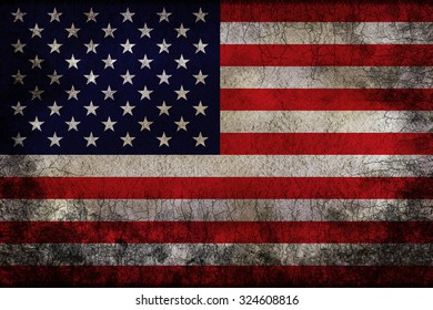 Grungy flag of USA background