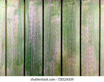 Grungy Green Wooden Planks Background
