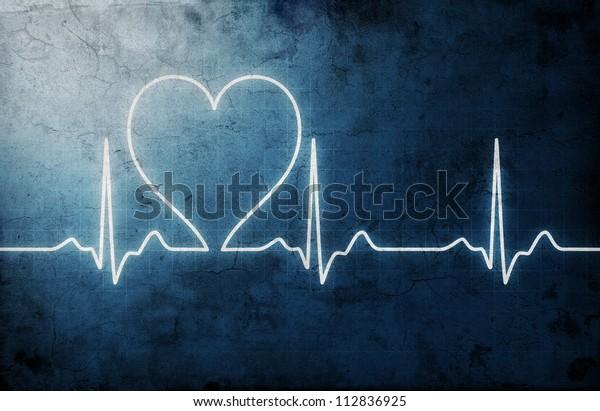 grungy heart beat