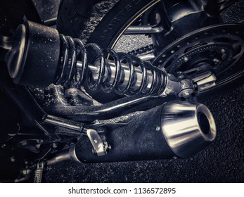 Grungy motorcycle parts