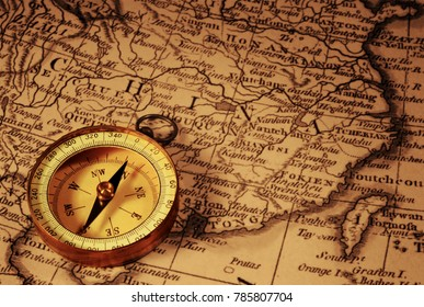 Antique world maps images stock photos vectors shutterstock grungy old compass and ancient map of china which is from 1799 and out of gumiabroncs Image collections