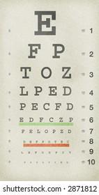 Grungy old eye chart.