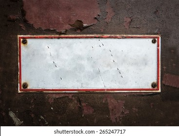 Grungy Old Street Sign For Your Text