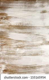 Grungy painted wood texture as background.