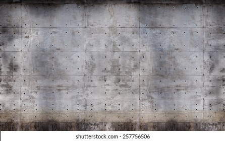 Grungy raw or bare concrete wall.