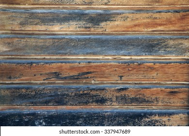 Grungy reclaimed wooden wall background.