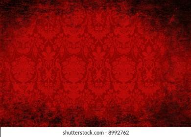 Grungy red velvet antique wallpaper