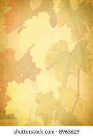 grungy vine leaves background
