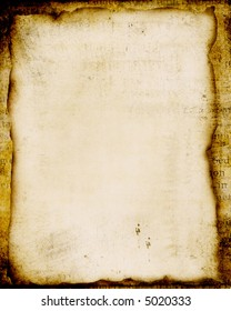 grungy vintage parchment on background of text