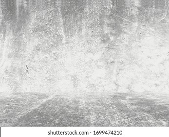 Grungy white background of natural cement or stone old texture as a retro pattern wall. Conceptual wall banner, grunge, material,or construction.