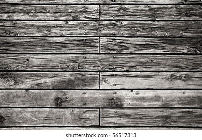 Grungy wooden paneling or floor