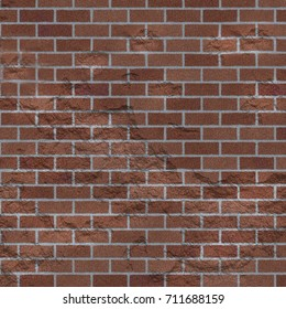 Grungy worn red brick wall texture background
