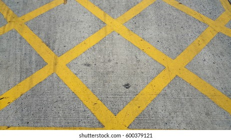Grungy yellow road paint pattern