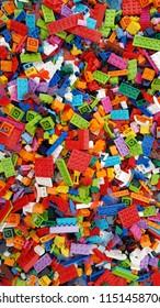 Grunzburg - Germany 8.4.2018: Lego bricks in Legoland / Germany.