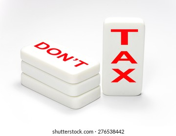 Gst concept in rectangle cubes on white background