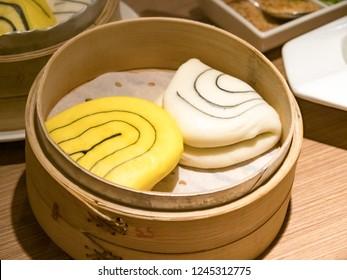 Gua bao, steamed buns in bamboo, bao buns