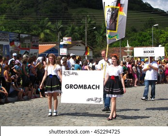 Guabiruba, Brazil - November 7, 2010 - Parade of German immigrants descendants in southern Brazil
