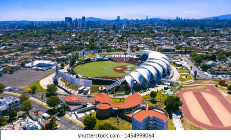 Guadalajara, Jalisco, Mexico. February 27th, 2019. Aerial view of the Estadio Panamericano, house for the mexican baseball team Charros de Jalisco.