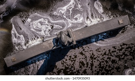 Guadalajara, Jalisco, Mexico. January 20th, 2018. Aerial shot of the The famous Glorieta Minerva