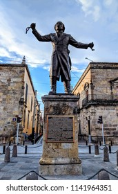 Guadalajara, Mexico - June 26, 2018: Statue of Don Miguel Hidalgo y Costilla, a Catholic priest and leader in the Mexican War of Independence. Located in independence square.