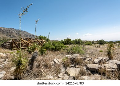 Guadalupe Mountains National Park, Texas, USA. The Pinery Butterfield Stage Station Ruins Trail. World's most extensive Permian fossil reef.