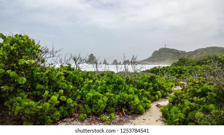 Guadeloupe: in Atlantic ocean and Caribbean sea