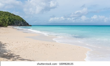 Guadeloupe, beautiful desert beach in Marie-Galante island