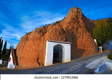 Guadix cave houses in Granada Spain at Andalusia