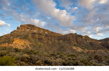 Guajara mountain peaks at Teide national park, popular hike route. Canary islands, Spain.