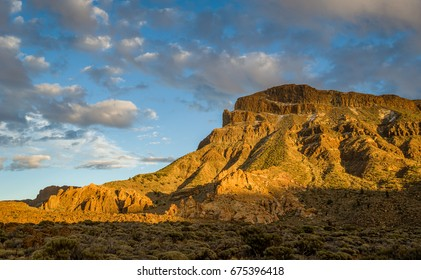 Guajara mountain, popular hiking trail at Tenerife island national volcanic park. Canary islands, Spain