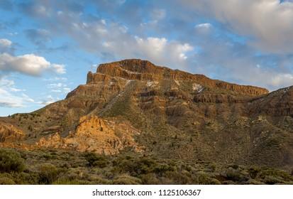 Guajara mountain at Tenerife island. Teide national park, popular trekking route. Canary islands, Spain.