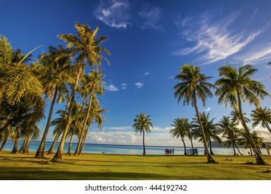 Guam coastline
