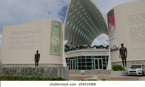 GUAM, USA— Front view of the Guam Museum, a division of the Department of Chamorro Affrais in Hagatna, Guam. Photo taken in December 2016.