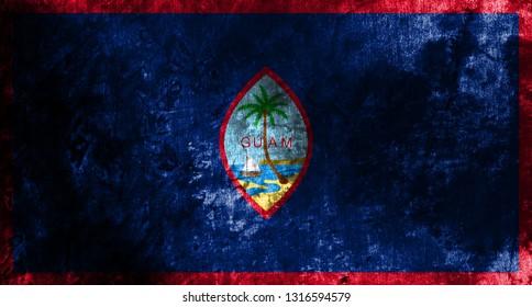 Guam grunge flag, United States dependent territory flag
