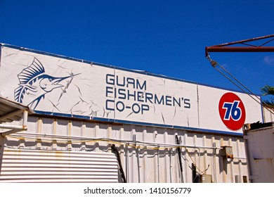 Guam Island,USA - Oct 31,2009 : View of Guam Fishermen's Co-op and surroundings.This is a fish shop run by a fishery association, where you can find freshly-fished fish and enjoy locals and touris.