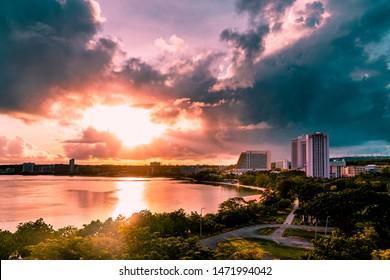 Guam Ocean Sunrise in hotel