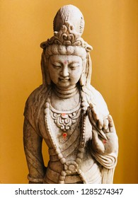 Guan Kwan Yin Bodhisattva Statue with Embelishments