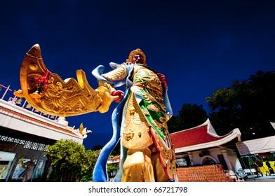 Guan Wu ,the honor of god in Hat Yai Thailand.