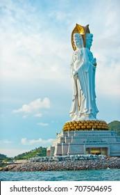 The Guan Yin of the South Sea of Sanya is a 108-metre statue of the bodhisattva Guan Yin, located near the Sanya City on Hainan Island, China.