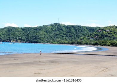 Guanacaste, Costa Rica coco beach coastline person walking