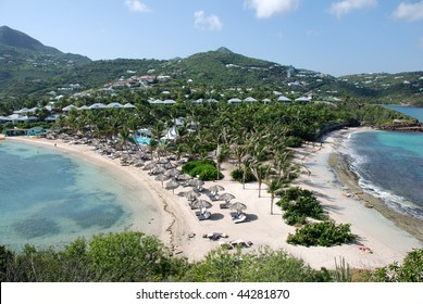 Guanahani Beach on Grand Case Bay in St Barts
