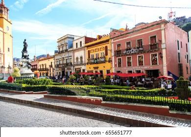 GUANAJUATO, MEXICO - DECEMBER 18, 2016 : The streets of Guanajuato