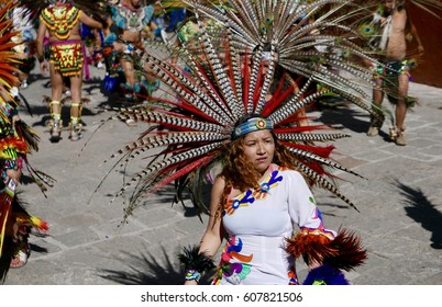 Guanajuato, Mexico-January 22, 2017: Dancers perform for San Joaquin festival